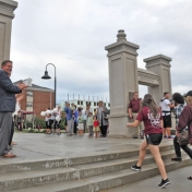 EKU President Benson welcomes 2016 freshmen class through the Turner Gate 9-17-1