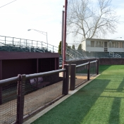 Baseball Dugout and Stands Before Demolition