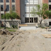 Starting renovations to the Noel Reading Porch, May 2015