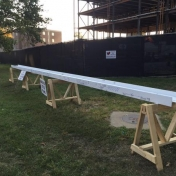 Beam from the Topping Off Ceremony for New Science Building Phase 2