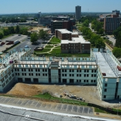 New Hall B view from Telford Hall roof 07-21-16