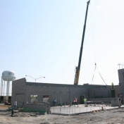 Progress made to the Ashland Building addition as of June, 2015