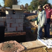 Beginning to brick Pedestrian Gateway