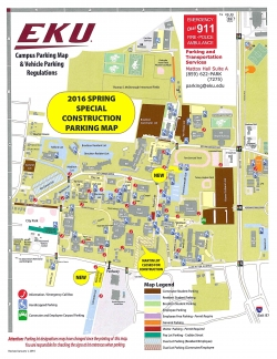 2016 Spring Special Construction Map
